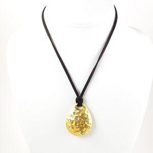 Lia Sophia Pendant Necklace Gold Tone